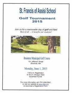 SFA Golf Tournament Flyer
